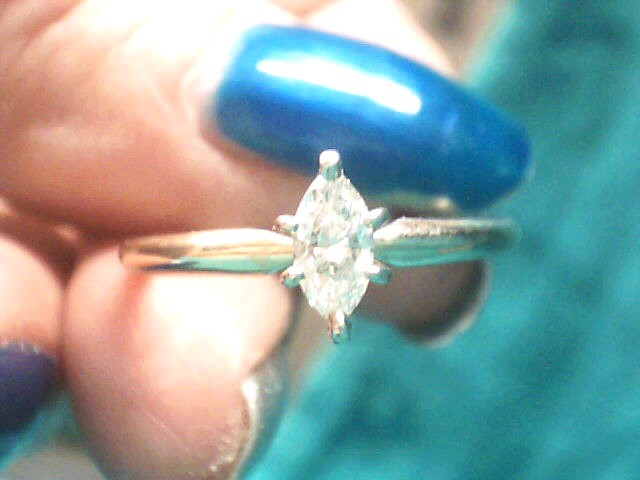 Lady's Diamond Solitaire Ring .40 CT. 14K Yellow Gold 1.8dwt