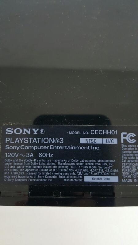 SONY PlayStation 3 PLAYSTATION 3 - SYSTEM - 80GB - CECH-E01