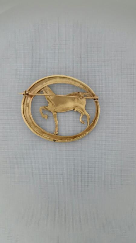 Antique Gold Brooch 14K Yellow Gold 8.18g