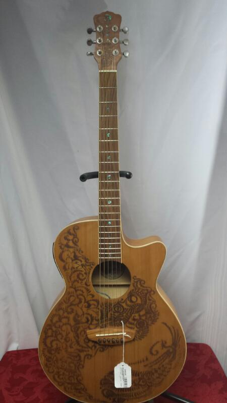 LUNA Acoustic Guitar HENNA OASIS