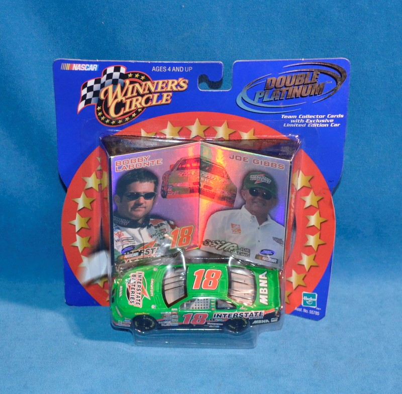 WINNERS CIRCLE Bobby Labonte #18 NASCAR Double Platinum Diecast Car