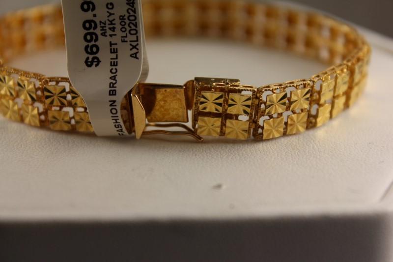 GOLD FASHION BRACELET 14KYG 14.6