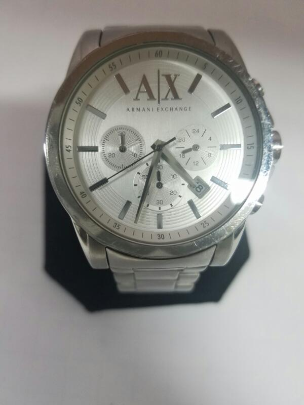 ARMANI AX2058 GOLD/SILVER WATCH PLATED   80.7KMNS #3 WATC