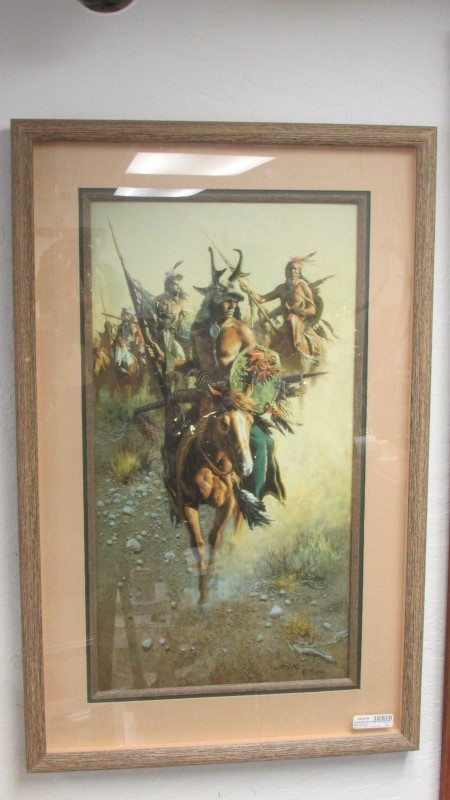 FRANK MCCARTHY - ARTIST Print RED BULLS WAR PARTY PRINT