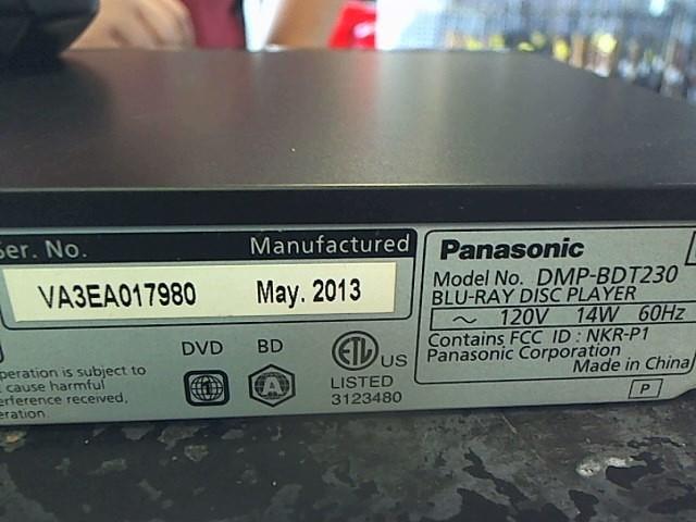 PANASONIC DVD Player DMP-BDT230