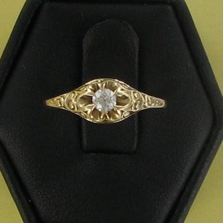Lady's Diamond Fashion Ring .15 CT. 14K Yellow Gold 1.2dwt