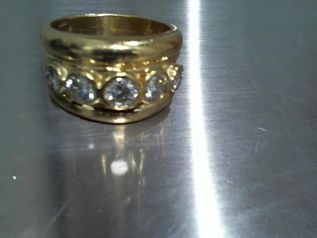 Gent's Gold-Diamond Wedding Band 5 Diamonds 2.20 Carat T.W. 18K Yellow Gold 18g
