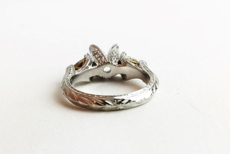 Semi Mount 2 Diamonds .56 Carat T.W. 950 Platinum