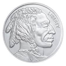 SILVER INDIAN HEAD
