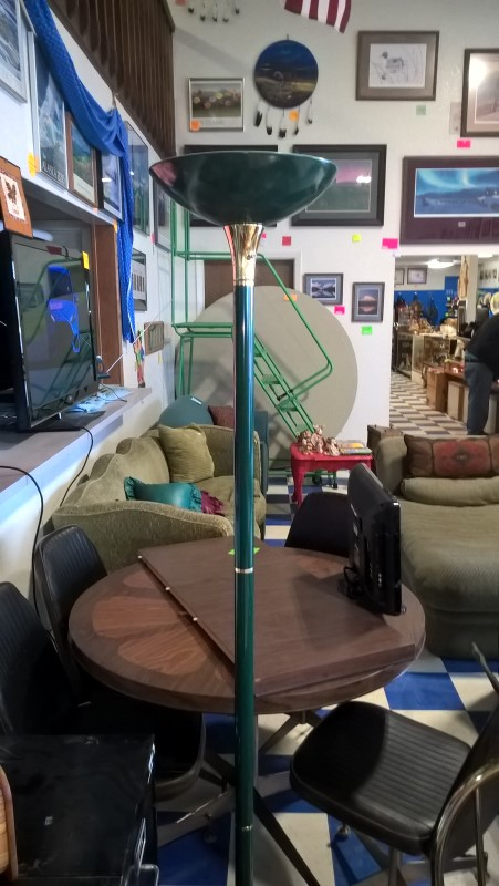 GREEN FLOOR LAMP