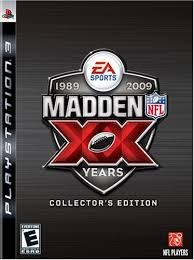 SONY Sony PlayStation 3 Game MADDEN XX 2009