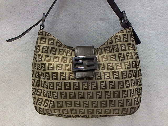 FENDI MONOGRAM ZUCCA HOBO SHOULDER BAG