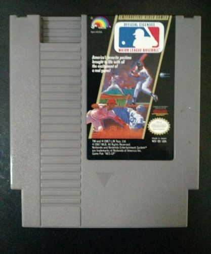 NINTENDO Nintendo NES Game MAJOR LEAGUE BASEBALL