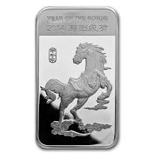 APMEX Silver Bullion 2014 1/2 OZ YEAR OF THE HORSE BAR .999 SILVER