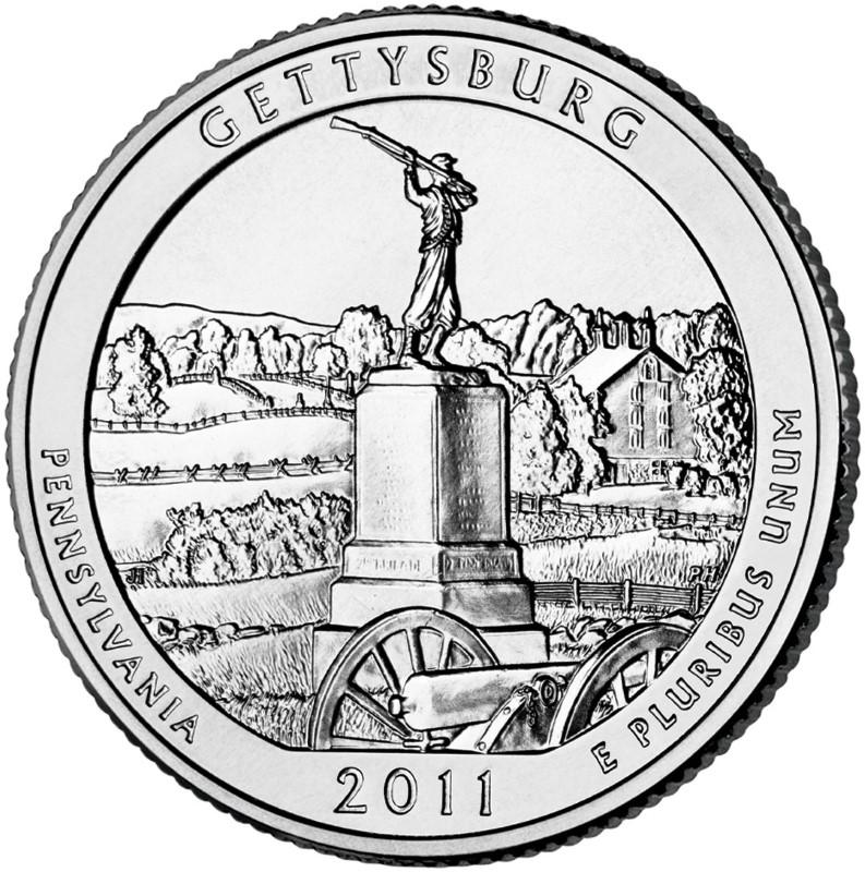 UNITED STATES Silver Coin 2011 5 OZ SILVER GETTYSBURG COIN