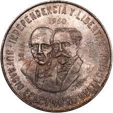 MEXICO Silver Coin 1960 DIEZ PESOS