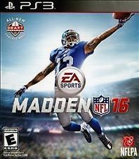 SONY Sony PlayStation 3 Game NFL MADDEN 16 PS3