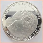 GOLDEN LION MINT Silver Bullion 1 TROY OUNCE .999 SILVER LION