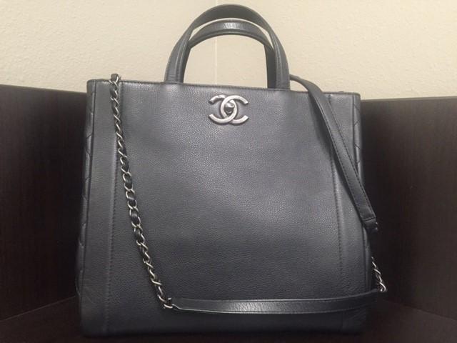 CHANEL Handbag CALF SKIN BLACK SHOULDER BAG