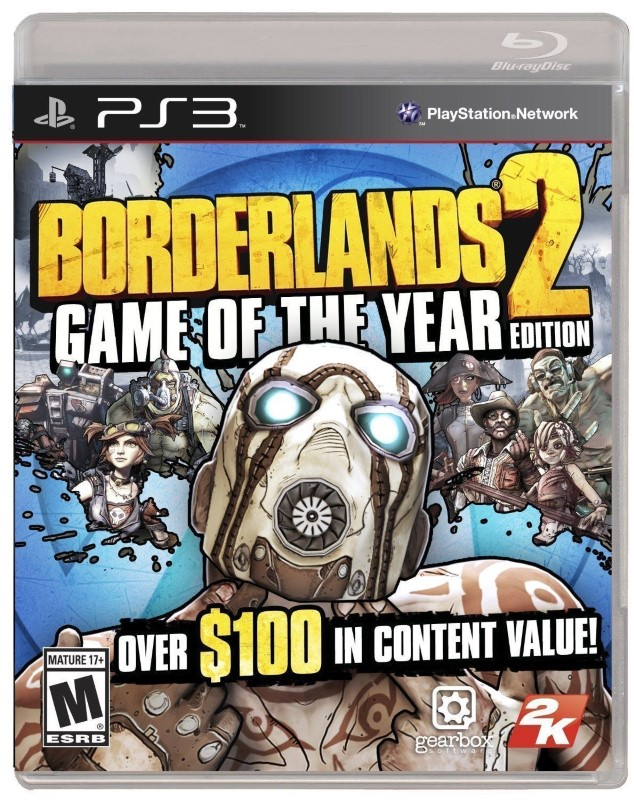 SONY Sony PlayStation 3 Game BORDERLANDS 2 GAME OF THE YEAR EDITION