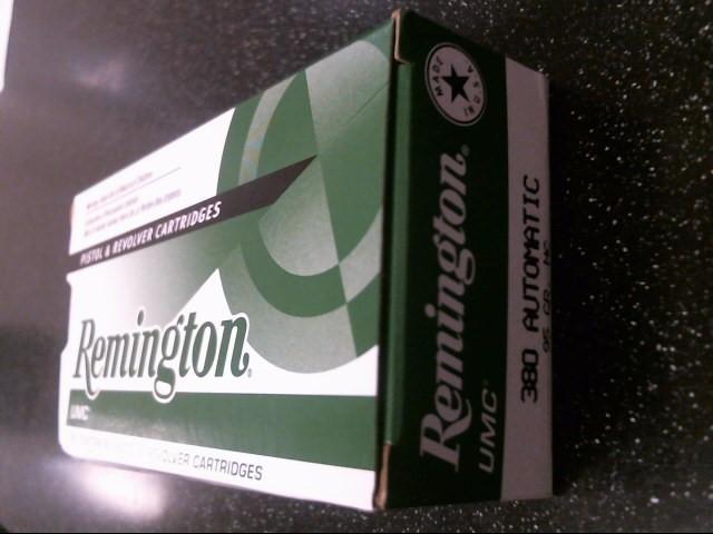 REMINGTON FIREARMS & AMMUNITION Ammunition 380 AUTOMATIC 95GR