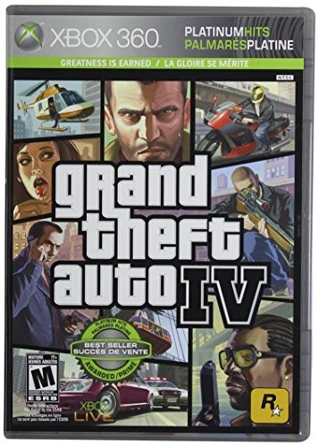 MICROSOFT Microsoft XBOX 360 Game GRAND THEFT AUTO IV - PLATINUM HITS
