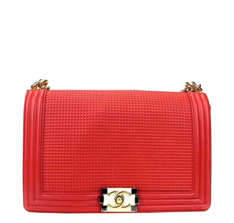 Chanel Boy Bag Small Red Cube Limited Edition