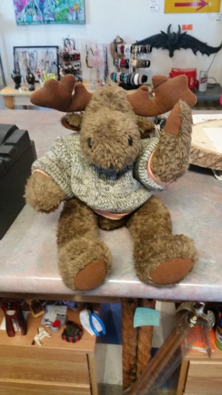 DUFFLES Stuffed Animal JOINTED MOOSE