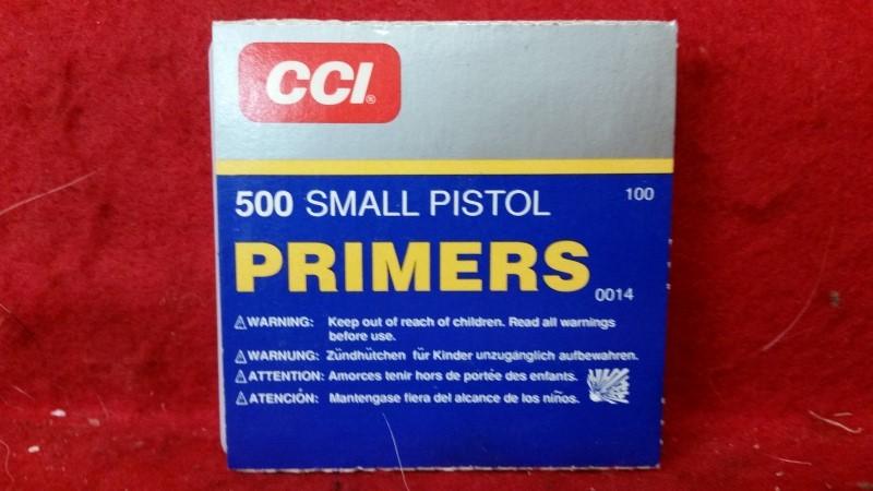 CCI 500 Small Pistol Primers - QTY 100