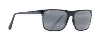 MAUI JIM Sunglasses MJ705-03S Blue Stripe/Grey Polarized
