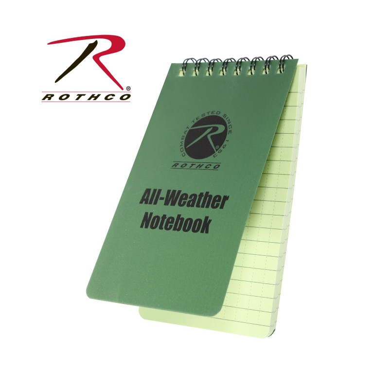 ROTHCO Outdoor Sports ALL WEATHER WATERPROOF NOTEBOOK 3X5