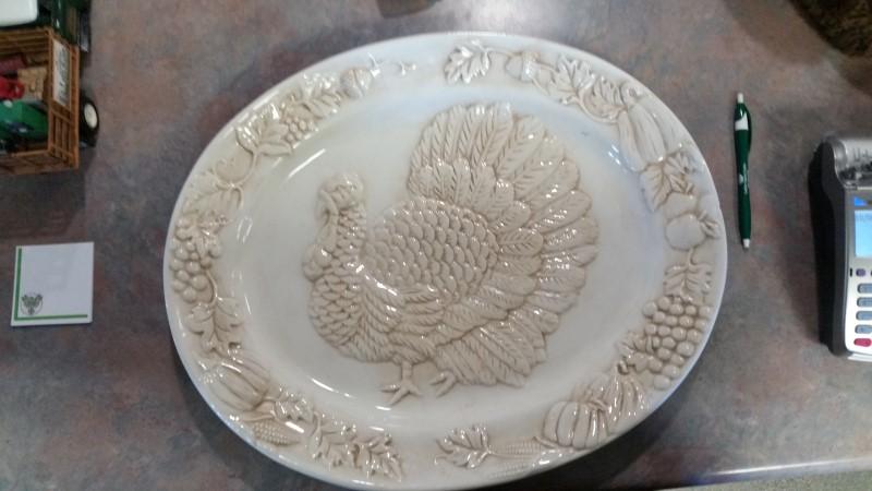 Glassware TURKEY PLATTER