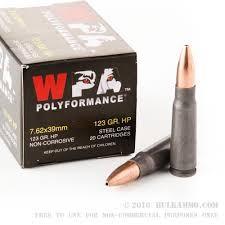 WPA AMMUNITION Ammunition 7.62X39MM AMMO
