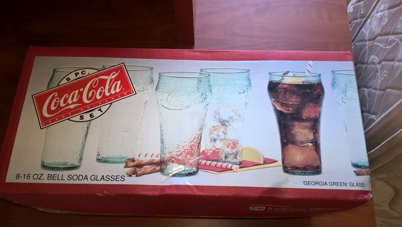 COCA COLA Glass/Pottery GLASSES SET