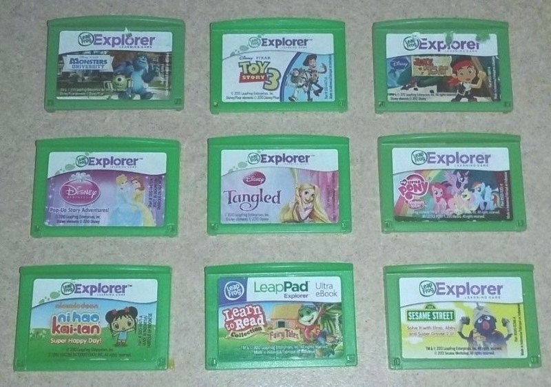 LEAPFROG Vintage Game LEAP PAD GAMES