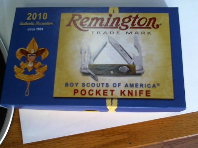 REMINGTON PRODUCTS Display Knife BOY SCOUTS OF AMERICA KNIFE RS4233 R2A