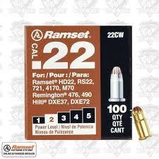 RAMSET Ammunition 22CW