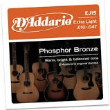 D'ADDARIO Musical Instruments Part/Accessory EJ15 PHOSPHOR BRONZE