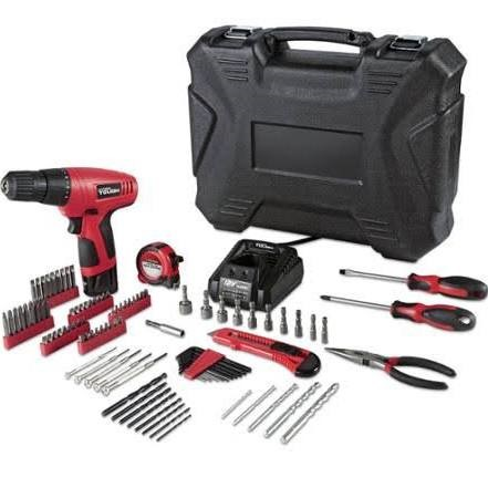HYPER TOUGH Cordless Drill 100 PC PROJECT KIT