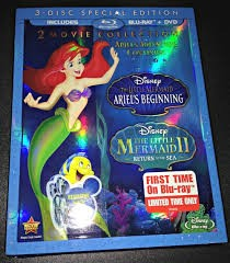 DISNEY Blu-Ray 2 MOVIE COLLECTION LITTLE MERMAID I & II