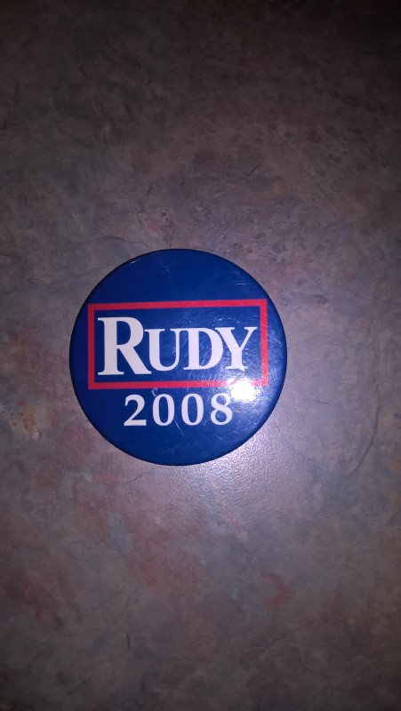 RUDY 2008 POLITICAL BUTTON