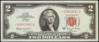 UNITED STATES Paper Money - World $2 DOLLAR BILL SERIES 1963