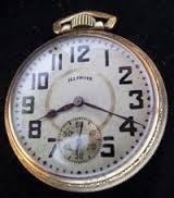 ILLINOIS WATCH COMPANY Pocket Watch 17 JEWELS TIME KING