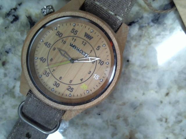 WEWOOD Gent's Wristwatch DUHBE BEIGE-CHOCOLATE