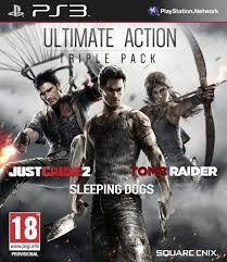 SONY Sony PlayStation 3 Game TRIPLE PACK JUST CAUSE2/SLEEPING DOGS/TOMB RAIDER