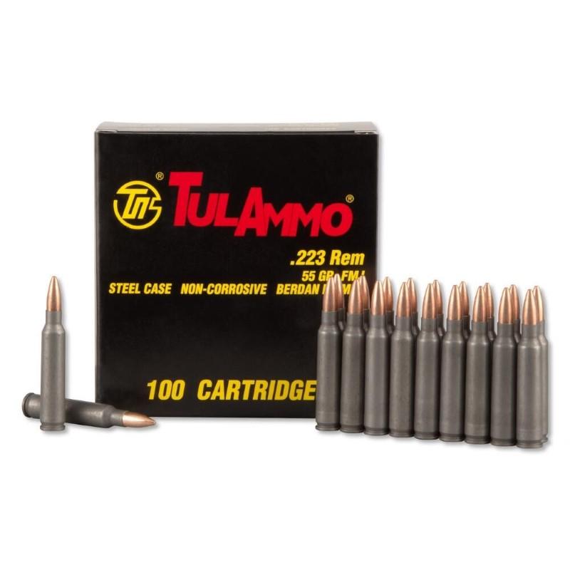TUL AMMO Ammunition .223 REM 55GR FMJ STEELCASE 100/BOX
