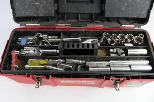 CRAFTSMAN Sockets/Ratchet TOOLBOX WITH TOOLS