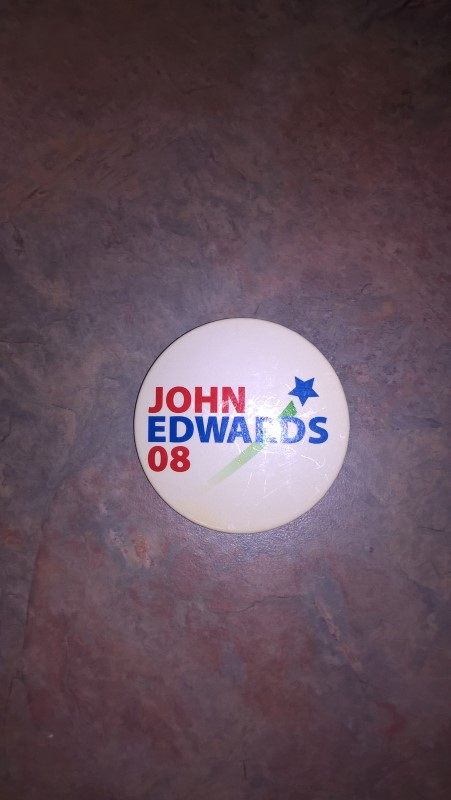 JOHN EDWARDS 08 BUTTON