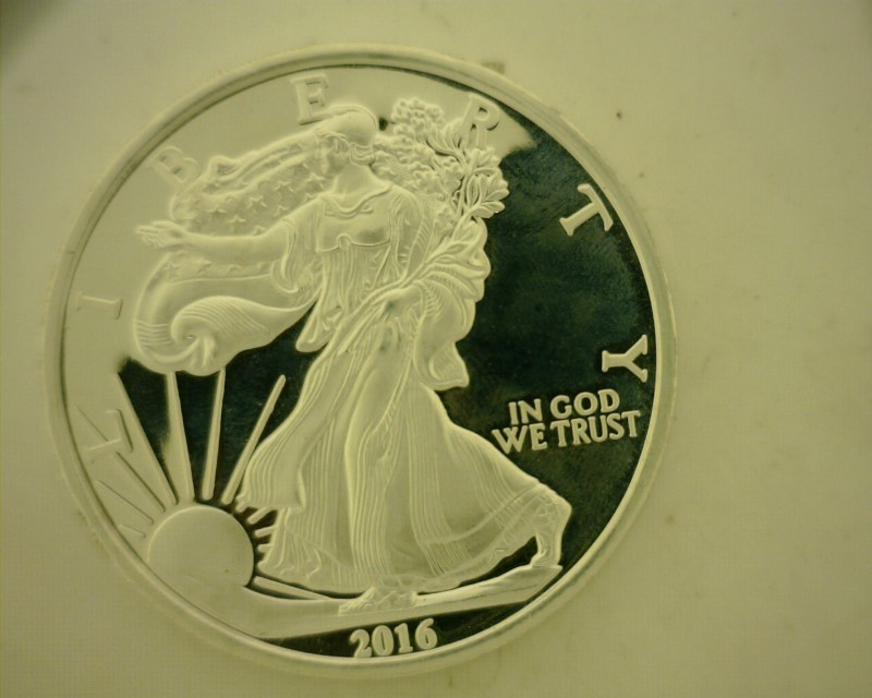 UNITED STATES Silver Bullion 2016 EAGLE LIBERTY 5 TROY OZ .999 FINE SILVER