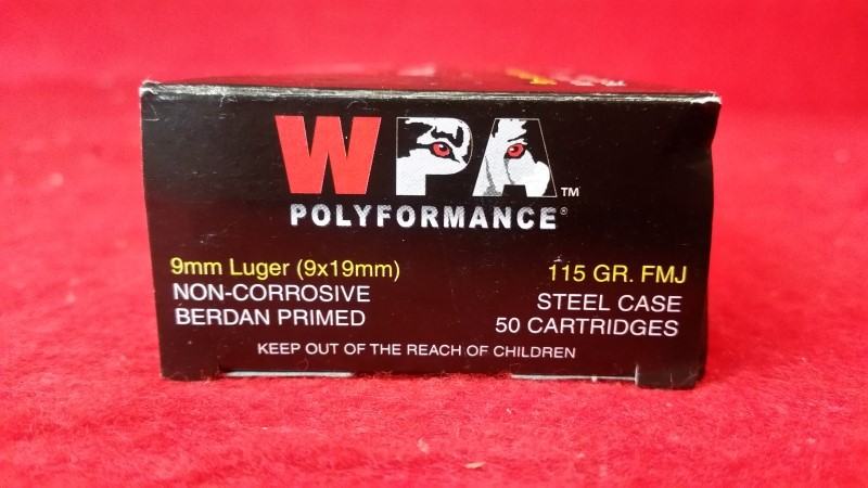 Wolf Polyformance 9mm 115gr Steel Case Ammo - 50 Rounds
